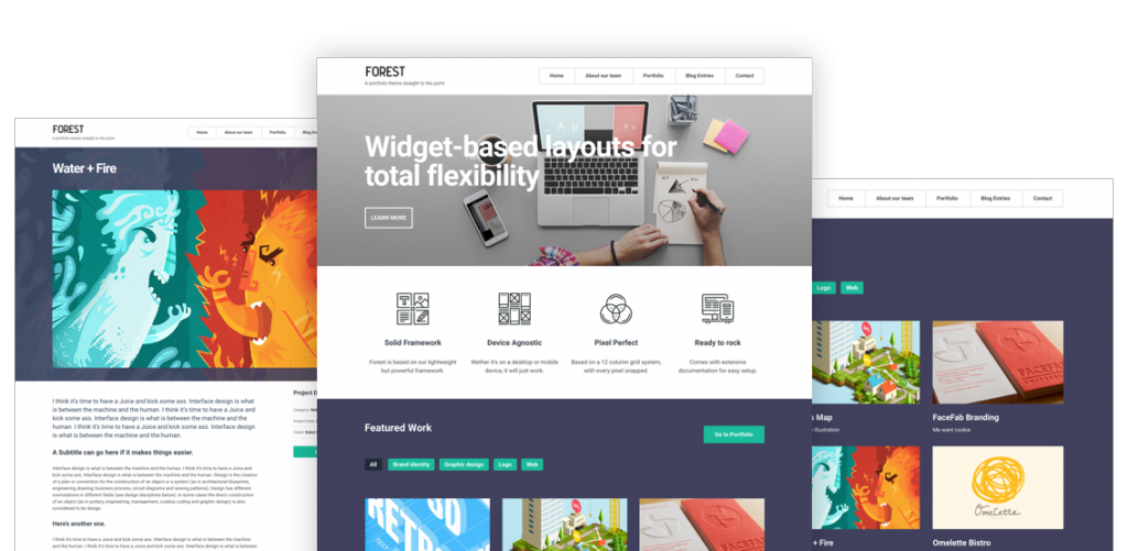 Forest - Clean, Bold Portfolio & Gutenberg-Ready Free WordPress Theme